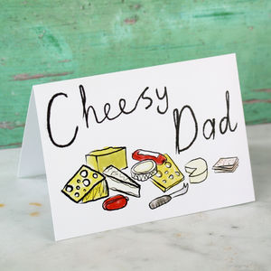Cheesy Dad Card - father's day cards