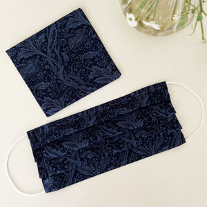 William Morris Print Face Covering And Carry Pouch