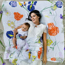 Contemporary Floral Print Baby Muslin Blanket For Mum