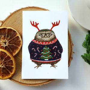Christmas Creatures Christmas Card Pack Two Designs - cards & wrap sale