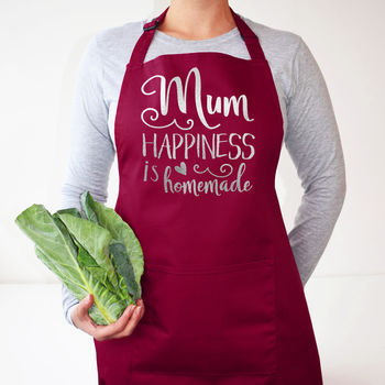 Mum, Happiness Is Homemade, Apron