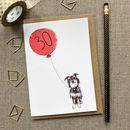 Personalised 30th Birthday Card Dog Design