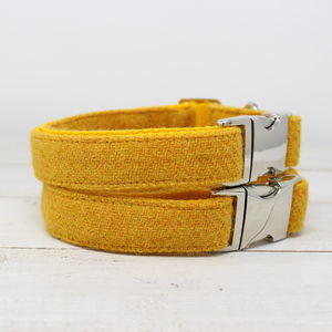 Eilidh Harris Tweed Dog Collar - dog collars