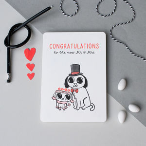 'Congratulations To The New Mr And Mrs' Card