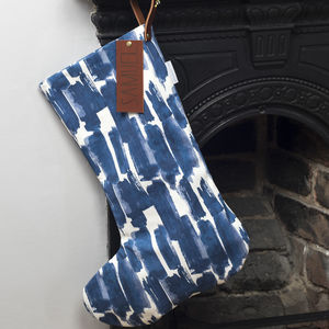 Personalised Christmas Stocking Choice Of Fabrics