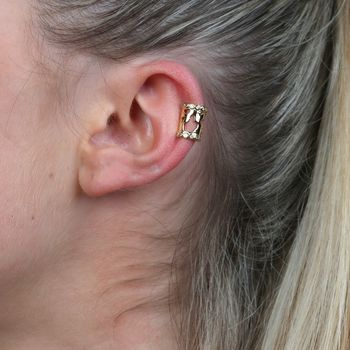Gold Plated Sterling Silver World Map Ear Cuff