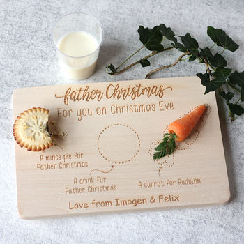 Father Christmas Eve Personalised Treat Board/Plate