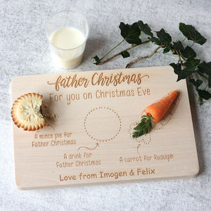 Father Christmas Eve Personalised Treat Board/Plate - christmas eve box ideas