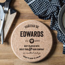 Personalised Cork Trivet