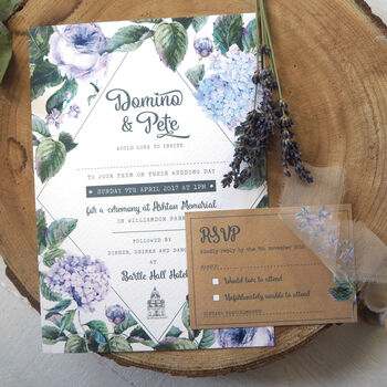 Wild Roses Wedding Invitation