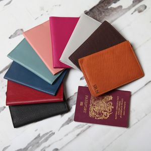 Personalised Leather Passport Holder - 3rd anniversary: leather