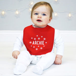 Personalised Baby Christmas Bib - bibs