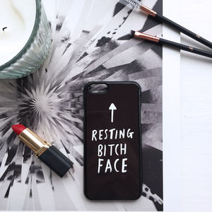 Resting Bitch Face iPhone Case - gifts for teenagers