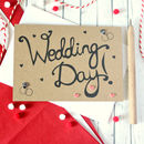 Hand Lettered Wedding Day Card, Congratulations