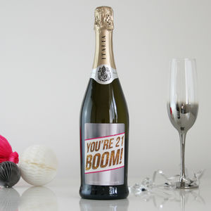 Birthday Boom Personalised Prosecco
