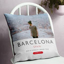 Personalised Travel Destination Photo Cushion