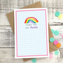 Personalised Rainbow Children's Thank You Card