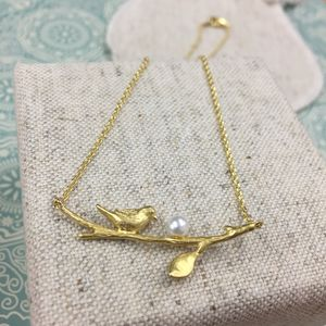 Florence Bird Branch Necklace