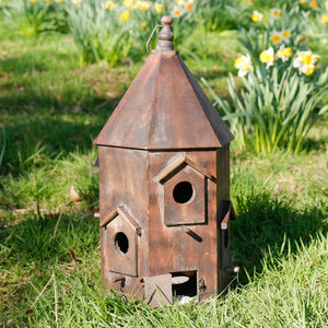 Personalised Wooden Chateau Bird House - wildlife houses