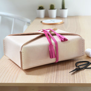 Personalised Leather Sewing Box - gifts for her