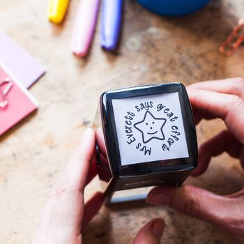 Personalised Teacher's Large Self Inking Stamp