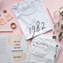 Personalised Year Or Date Organic T Shirt