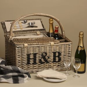 Personalised Picnic Basket - mr & mrs