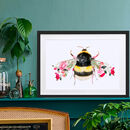 Bumble Bee Wildlife Botanical Art Print