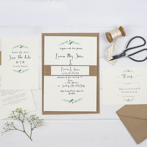 'Simplicity' Watercolour Wedding Invitation Suite - invitations