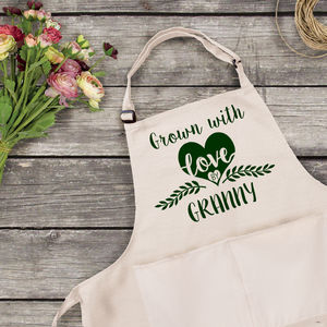 Personalised Gardening Apron - mother's day gifts