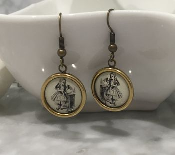 Vintage Style Alice In Wonderland Earrings