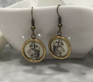 Vintage Style Alice In Wonderland Earrings - earrings