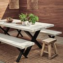 Concrete Outdoor/Indoor Dining Table With X Frame