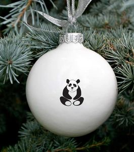 Christmas Bauble With Cute Panda Bear