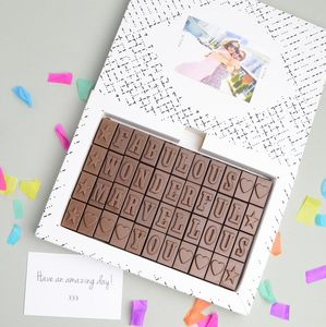 Personalised Chocolate Gift 44 Letters - novelty chocolates