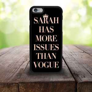 More Issues Than Vogue iPhone Case - phone covers & cases