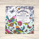 Sunshine And Bloom Grown Up Colouring Book