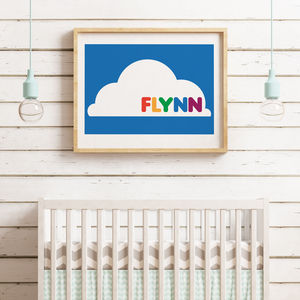 Personalised Bright Cloud Print