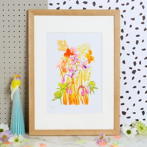 Meadow Art Print With Wildflower Seeds - nature & landscape