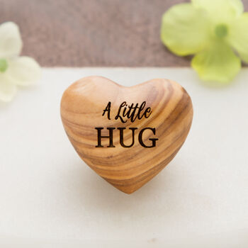 A Little Hug, Tiny Hug Token, Olive Wood