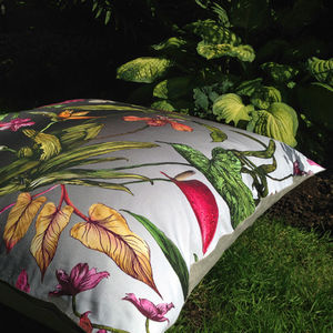 Tropical Hothouse Botanical Floor Lawn Cushion - bedroom