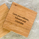 Personalised Oak Grandparent Coaster