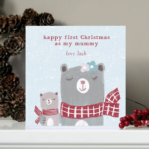 Personalised First Christmas As My Mummy Card