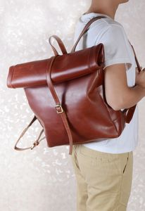 Eazo Minimalist Premier Leather Backpack Personalised - whatsnew