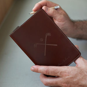 Personalised Leather Golf Scorecard Holder - 3rd anniversary: leather