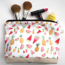 Standard Handmade Summer Fruits Make Up Bag