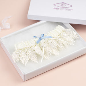 Vintage 'Something Blue' Bridal Garter - bridal garters
