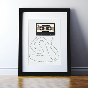 Personalised Mix Tape Print