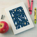 Personalised Rocket Pattern Notebook