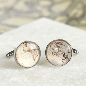 Vintage Nautical Map Cufflinks - fashion sale